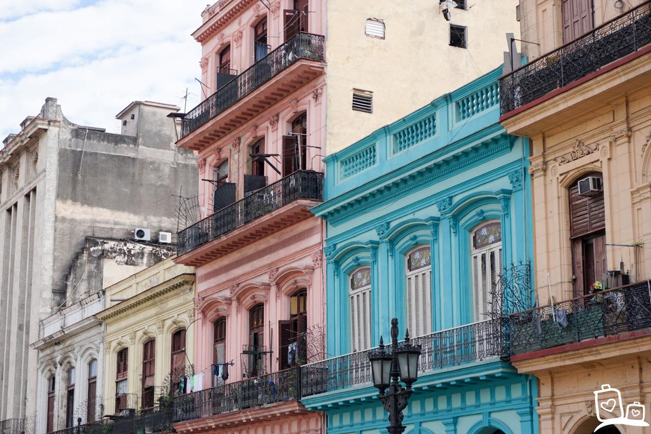 Cuba Havana Kleurrijke Gebouwen