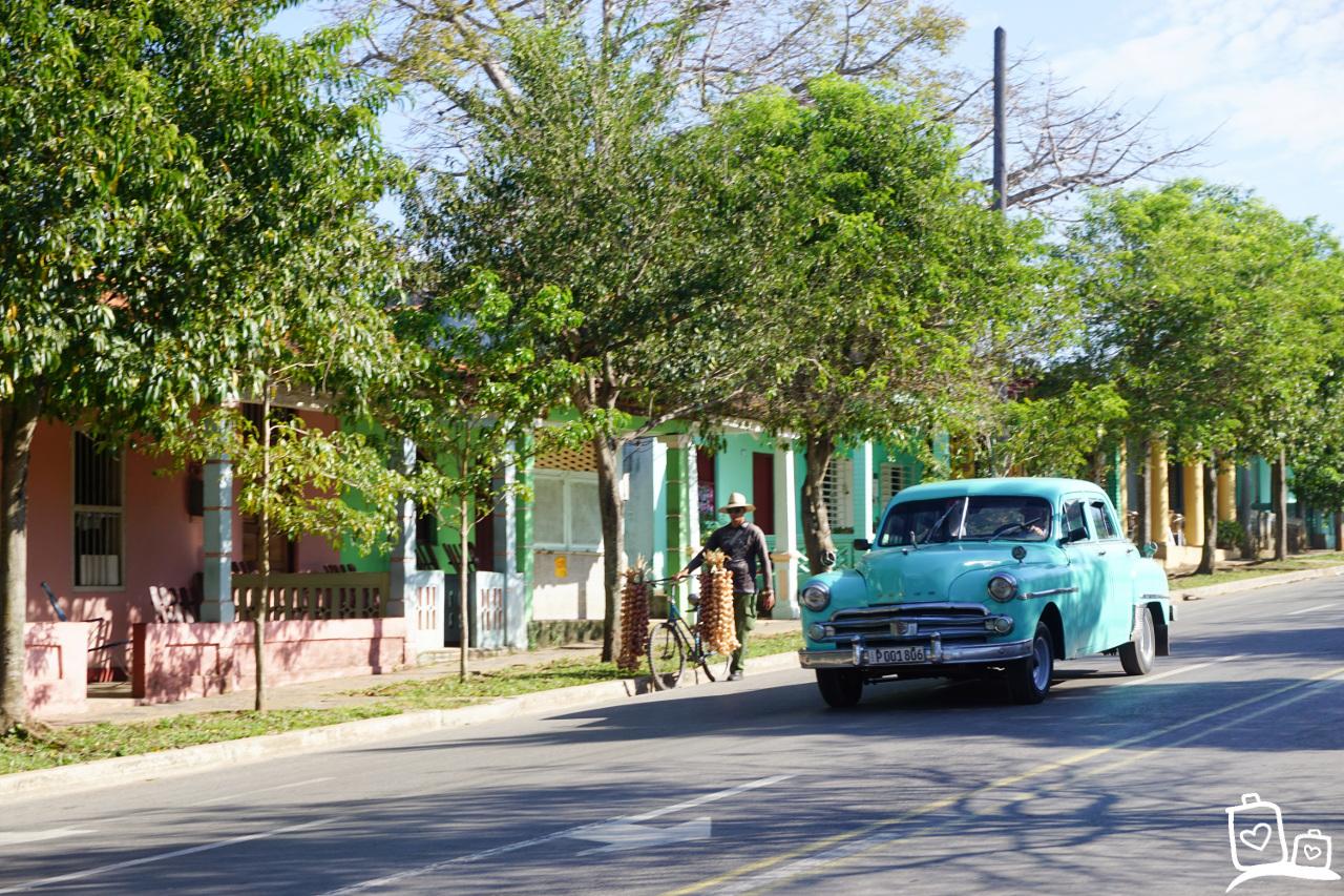 Cuba Vinales Oldtimer Straatbeeld