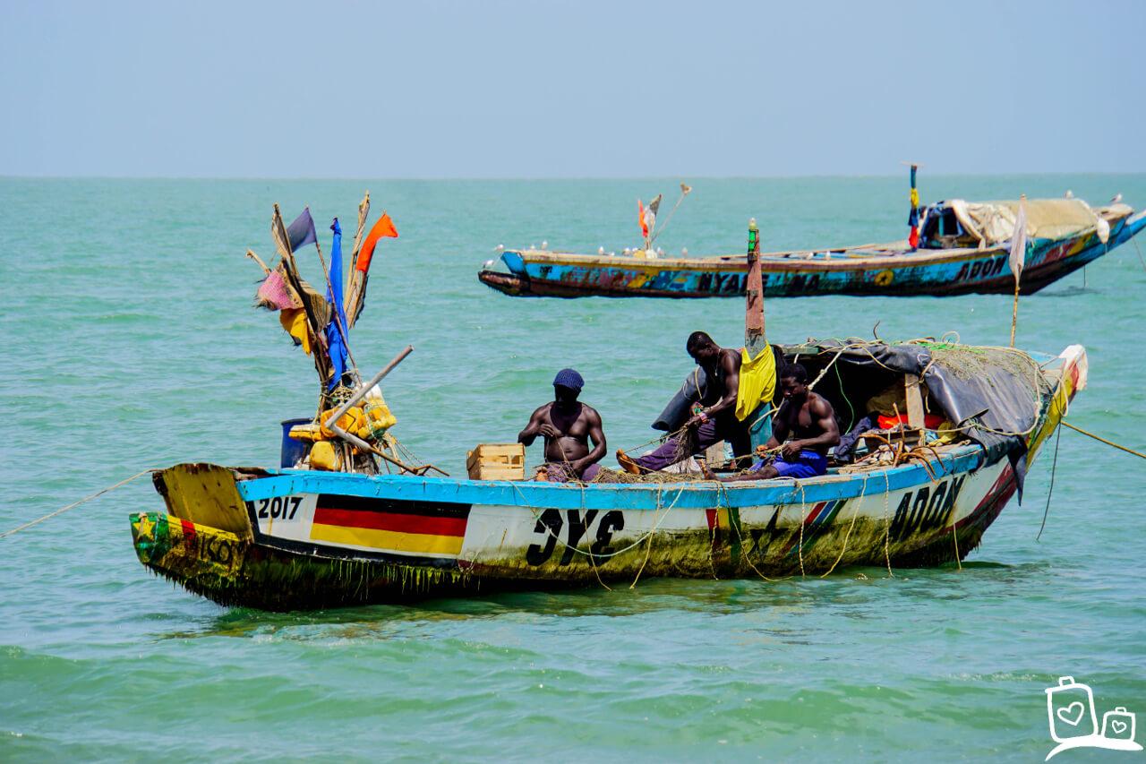 Gambia Brufut Vismarkt Ghanatown
