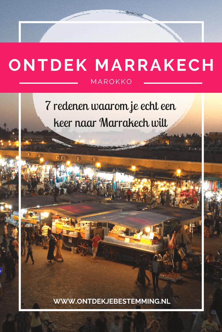 Ontdek je bestemming | Tips bezienswaardigheden Marrakech: Djemaa el Fna plein | Medina | Jardin Marjorelle | Bahia paleis | Medersa Ben Youssef | Leerlooierijen | Ourika-vallei - Lees meer!
