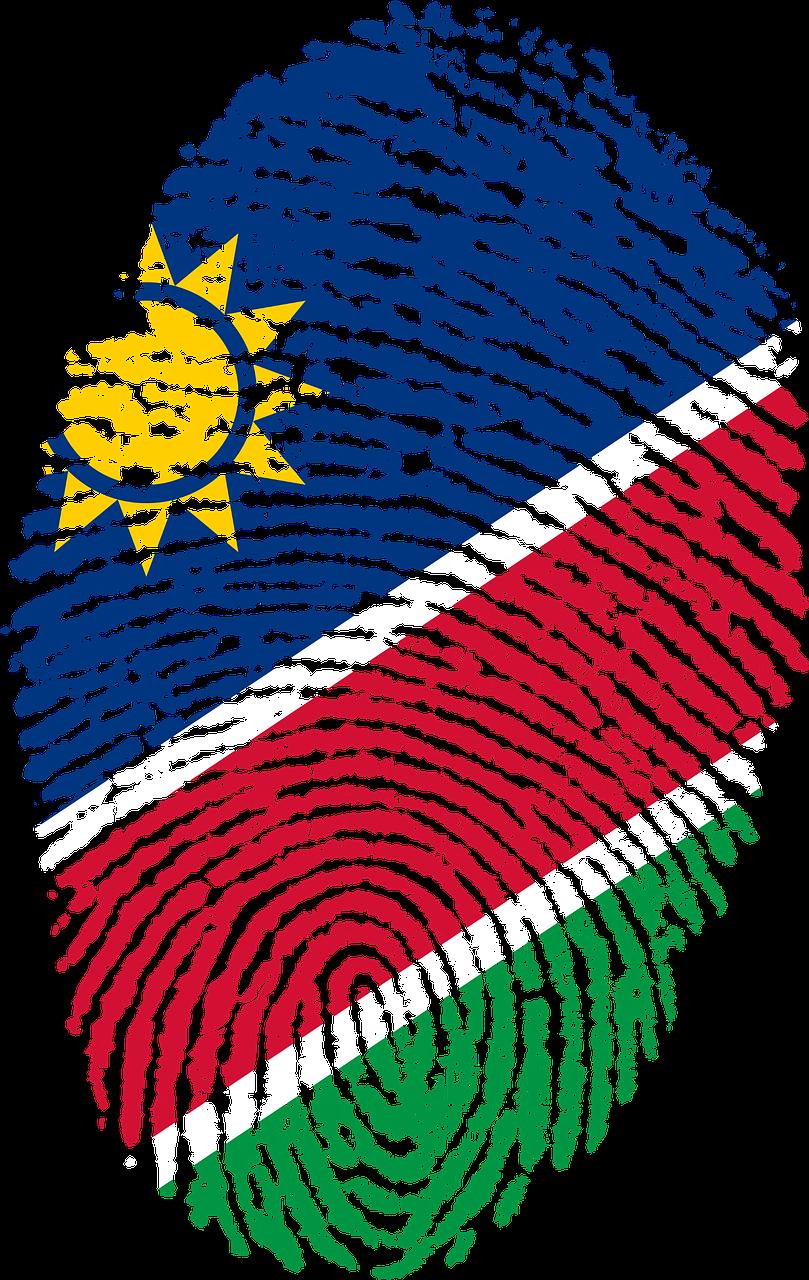 Namibie vingerafdruk