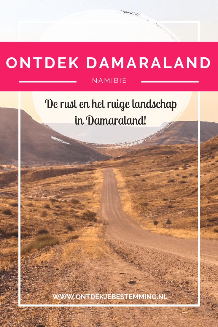 De eindeloze uitzichten, de enorme rust en de prachtige bergen en rotsen. Damaraland is een absolute must-see tijdens je reis door Namibië. Lees hier meer!