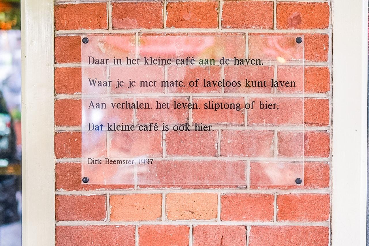 Wat te doen in Hoorn? Kleine Cafe aan de Haven