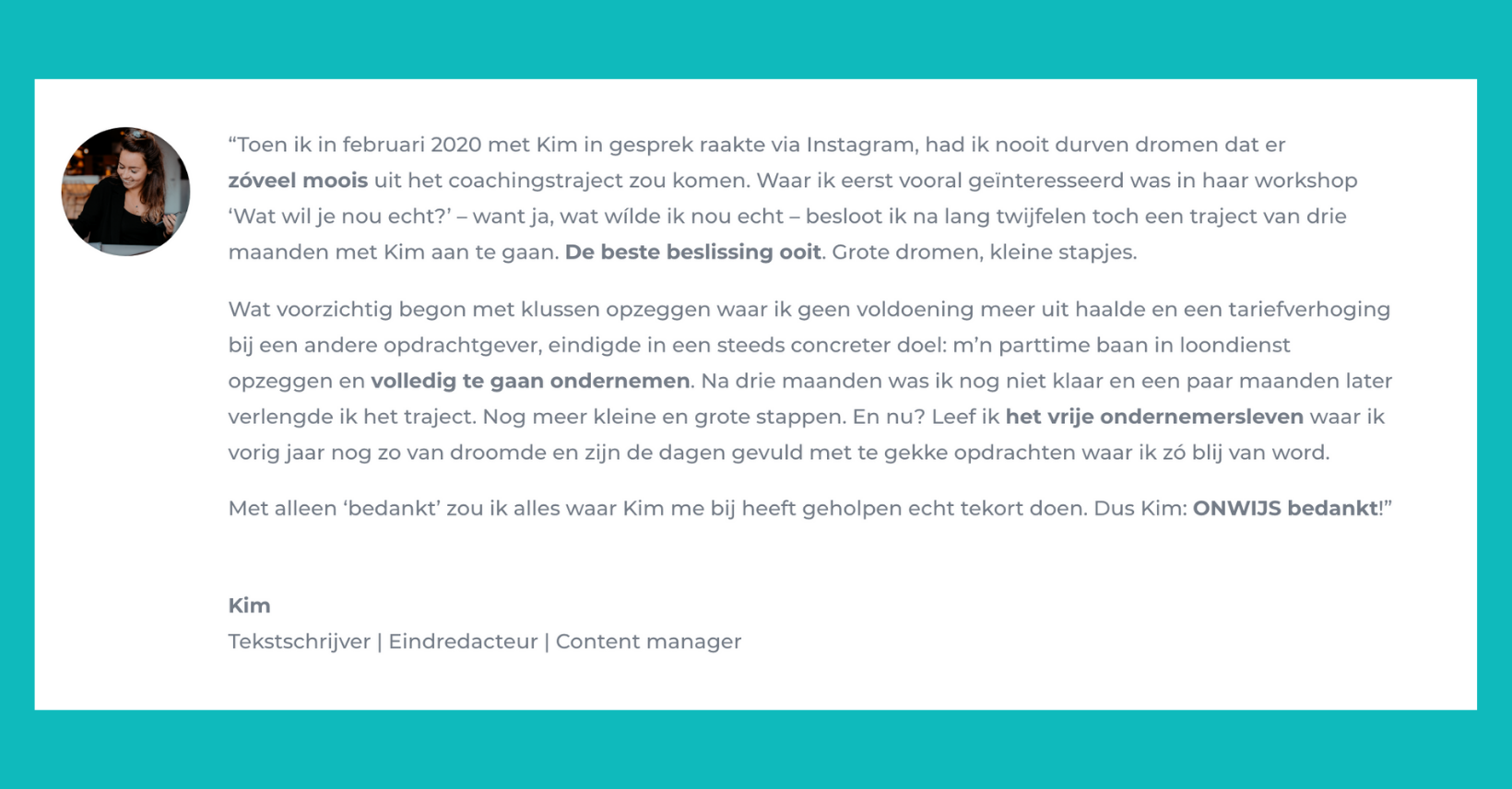 Review Kim van Weering